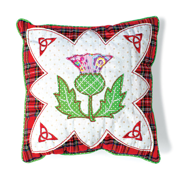 Patchwork Thistle Pillow