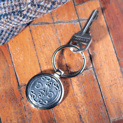 Dad Pewter Keychain