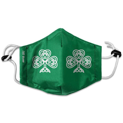Celtic Shamrock Face Mask
