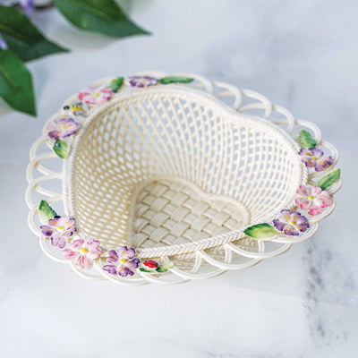 Belleek Violet Basket