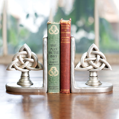 Brushed Nickel Celtic Knot Book Ends