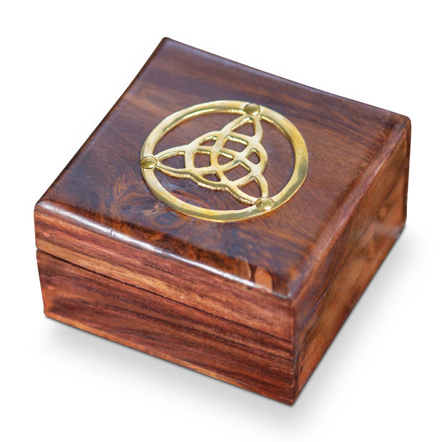 Metal Trinity Wood Box