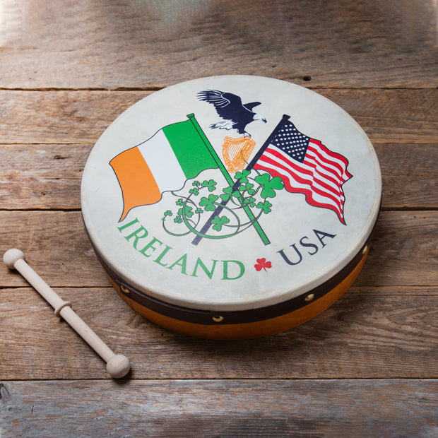 Irish USA Flag Bodhran