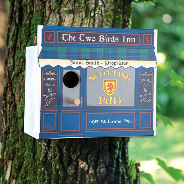 Personalized Scottish Pub Birdhouse