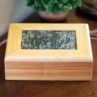 Connemara Marble and Oak Jewelry Box