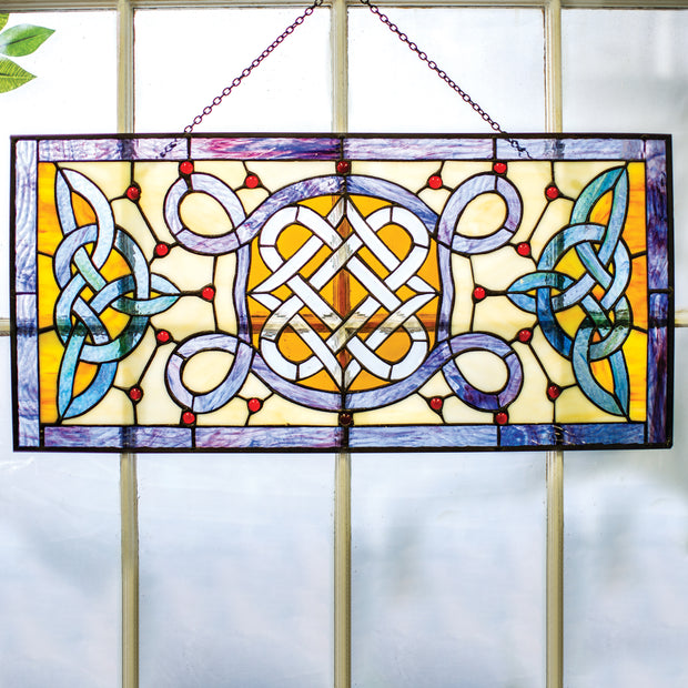 Celtic Stained Glass Window