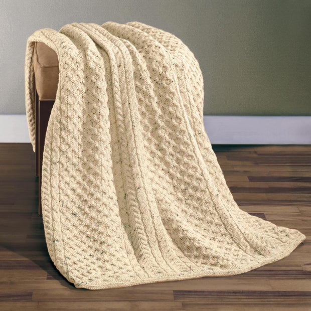 Aran Wool Throw