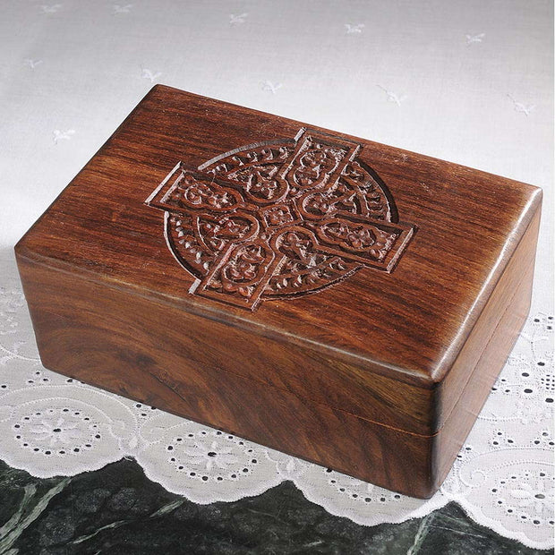 Celtic Cross Carved Box