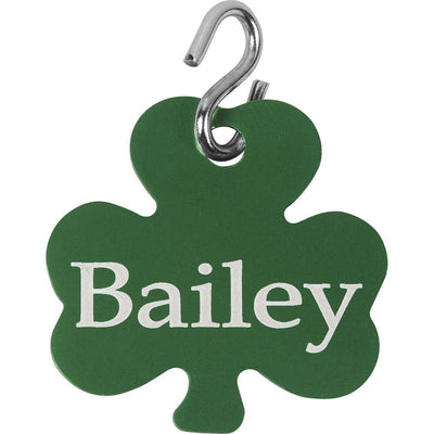 Personalized Shamrock Dog Tag