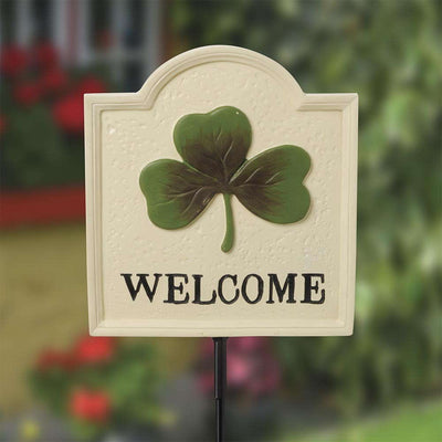 Shamrock Welcome Sign