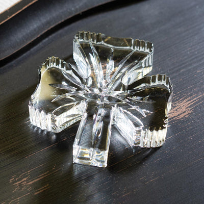 Glass Shamrock Paperweight