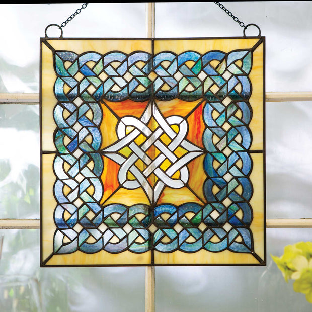 Celtic Diamond Beveled Window Hanging