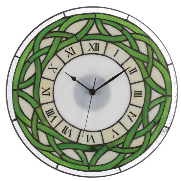 Stained Glass Celtic Clock