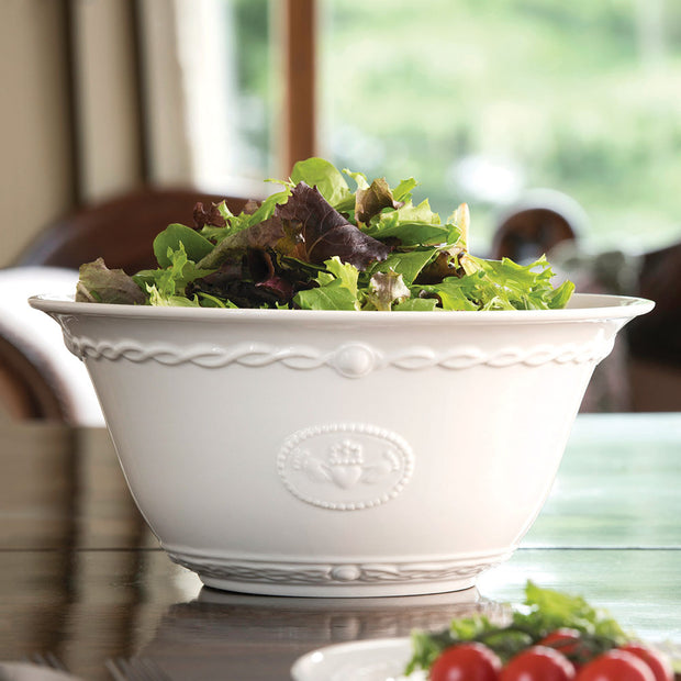 Belleek Claddagh Serving Bowl