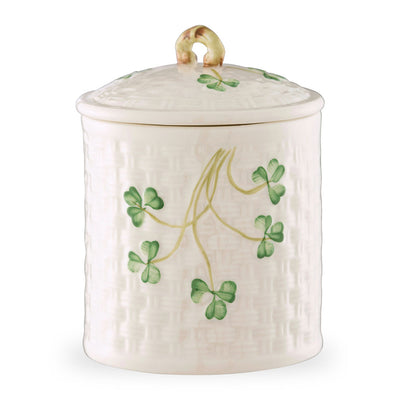 Belleek Shamrock Jar