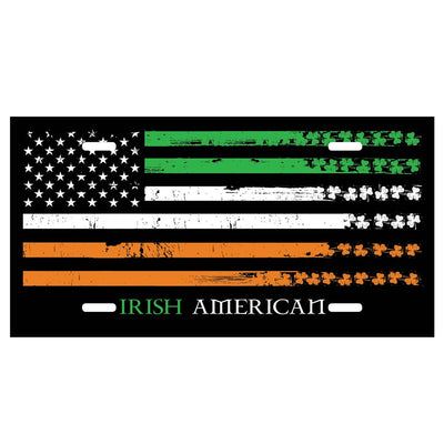 Irish American License Plate