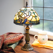 Celtic Pathways Stained Glass Lamp
