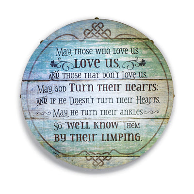 Irish Blessing Barrel Plaque
