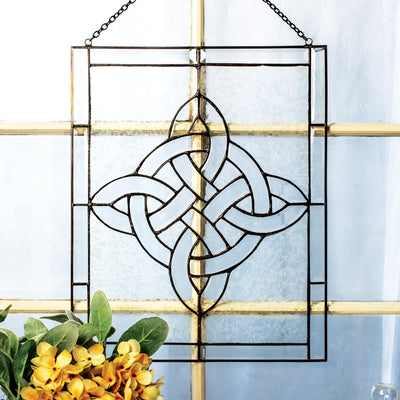 Celtic Knot Glass Window Hanging