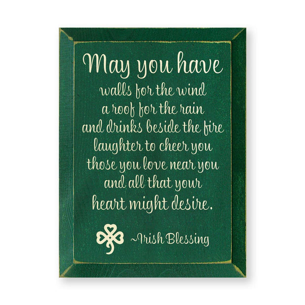 May You Have Walls Plaque