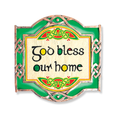 God Bless Our Home Threaded Plaque