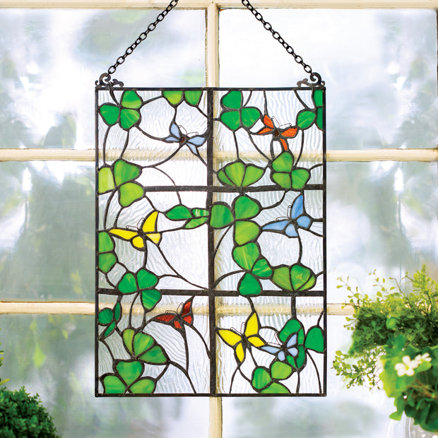 Shamrocks Window Glass Hanging
