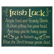 Irish Luck Wood Sign
