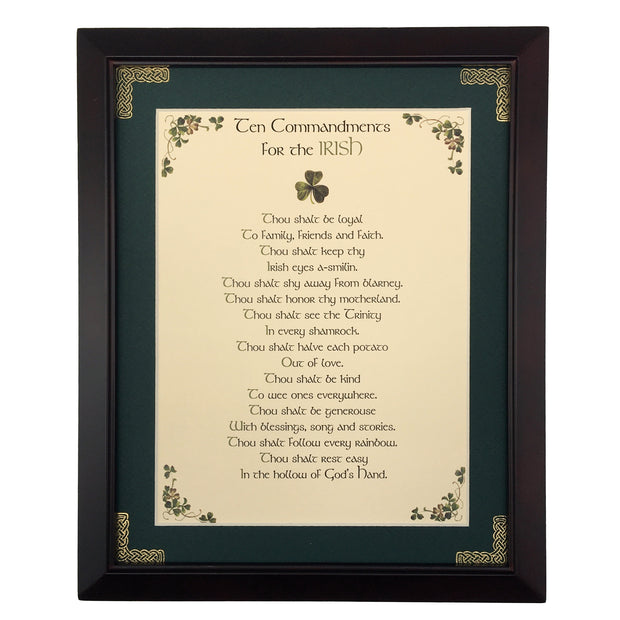 Ten Commandments For The Irish