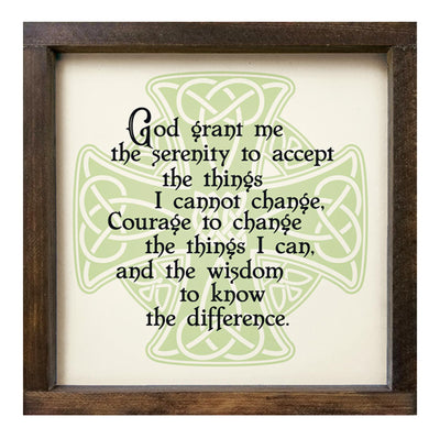 Celtic Cross Serenity Prayer Plaque