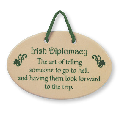 Irish Diplomacy Plaque