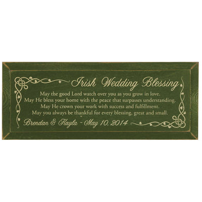 Personalized Irish Wedding Blessing Plaque