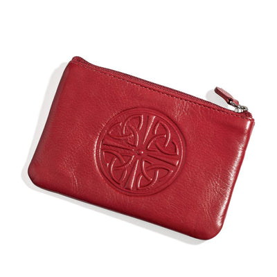 Red Celtic Coin Purse
