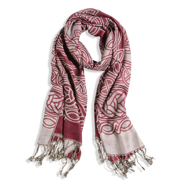 Burgundy Celtic Scarf