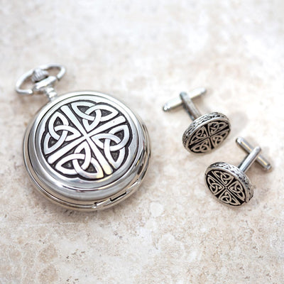 Trinity Pocket Watch and Cuff Link Set