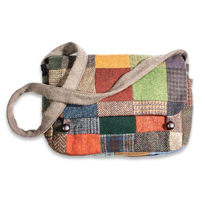 Tweed Patch Crossbody Bag