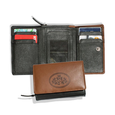 Leather Wallet with Shamrocks