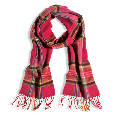 Plaid Lambs Wool Scarf