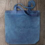 Embossed Denim Claddagh Tote