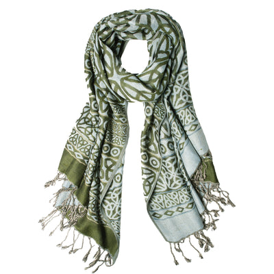 Trinity Scarf, Green and Blue
