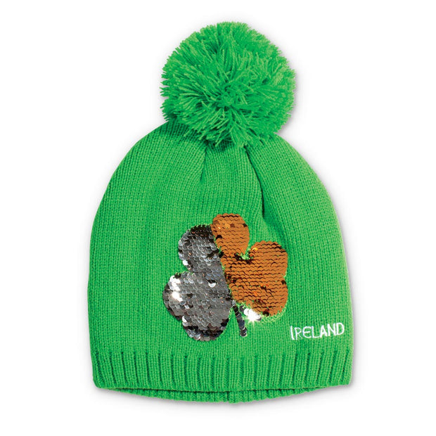 Shamrock Sequin Knitted Hat