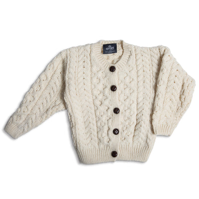 Child's Aran Knit Cardigan