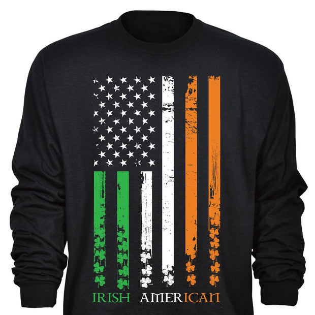 Long Sleeve Irish American T-Shirt