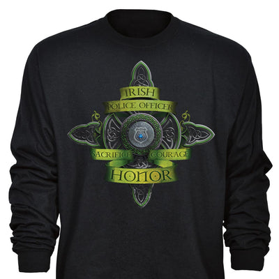 Long Sleeve Irish Policeman T-Shirt
