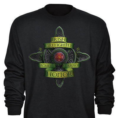 Long Sleeve Irish Firefighter T-Shirt