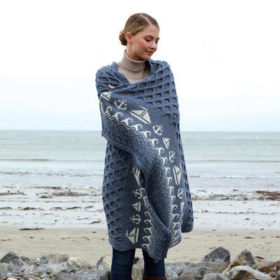 Irish Coast Nautical Blanket