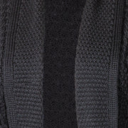 Black Open Front Long Cardigan