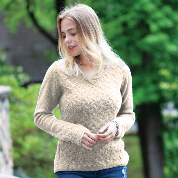 V Neck Sweater, Chalkstone