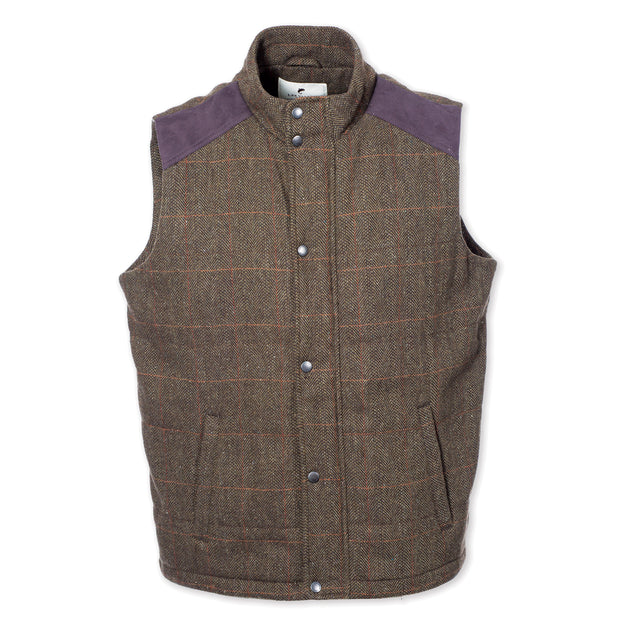 Kerry Tweed Vest Moss Check