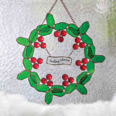 Nolliag Shona Stained Glass Wreath