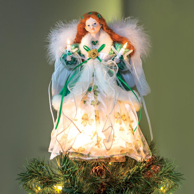 Irish Angel Lighted Tree Topper